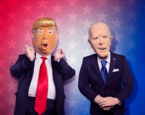 LETÕS BE REAL: Donald Trump and Joe Biden as puppets in LETÕS BE REAL, the all-new election-themed puppet special executive-produced by Robert Smigel (ÒTriumph the Insult Comic DogÓ) airing Thursday, Oct. 1 (9:00-9:30 ET/PT) on FOX. © 2020 Fox Media LLC. CR: Frank Micelotta/FOX.