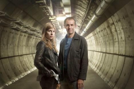 The Tunnel Clemence Poesy (Elise Wassermann) and Stephen Dillane (Karl Roebuck) ©Sky Atlantic/Justin Downing
