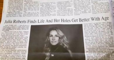 "Twitter Had Fun With This Julia Roberts Newspaper Article Gaaf ""Her Holes Got Better With Age"""