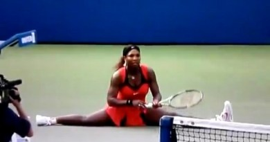 Classic FBJ. One Time Not So Long Ago, Serena Williams Did A Fantastic Split During Her Tennis Match