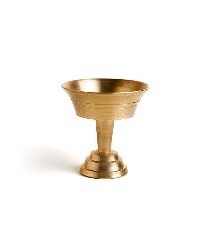 Khutte Diyo (Brass) - Traditional Oil Lamps for Tihar & Puja