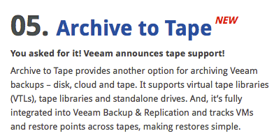 Veeam announces fifth Backup & Replication v7 feature