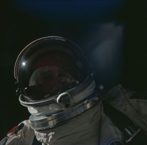 selfie ruimte buzz aldrin