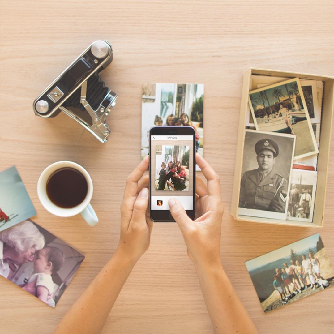 digitaliseer je oude foto's met Heirloom