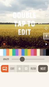 Fonta fotobewerkings app met tekst