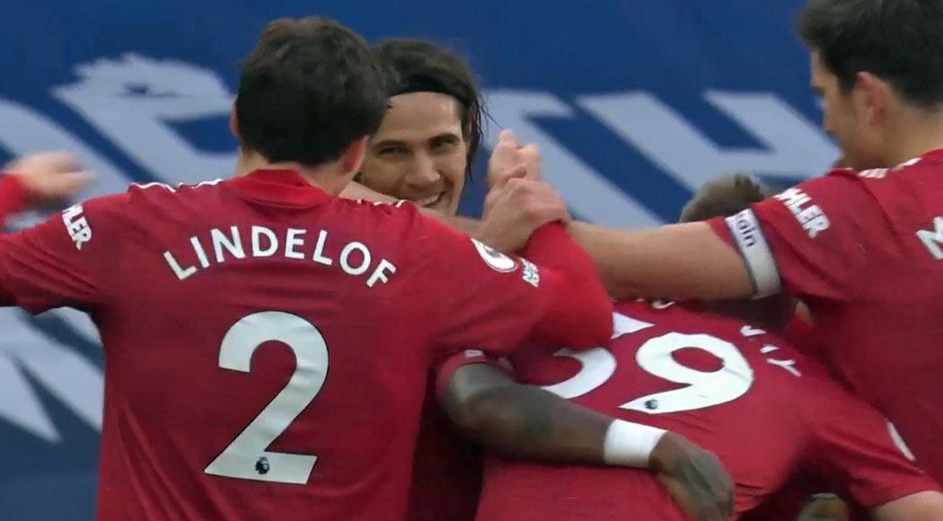 Premier League vidéo : Everton 1 – Manchester United 3, premier but de Cavani