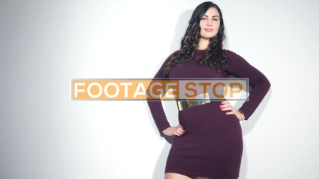 Plus-size-woman-sexy-stock-video-footage