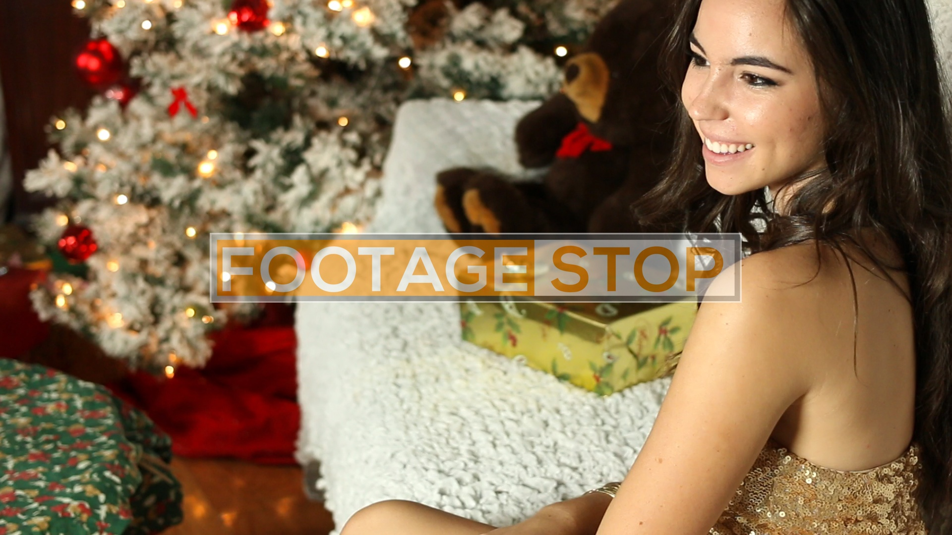 ethnic-christmas-girl-stock-video