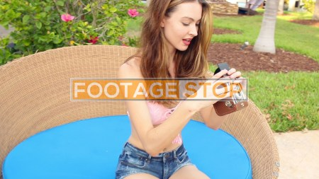 millennial-bikini-girl-vacation-stock-video