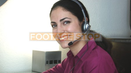 ethnic-middle-eastern-customer-service-woman-stock-video-footage