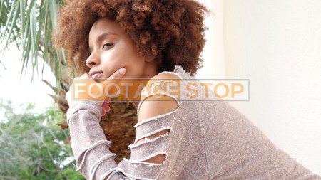 african-american-girl-millennial-woman-stock-footage-video
