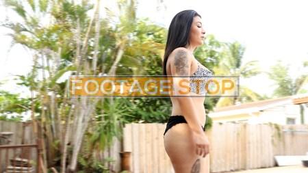 Native-American-bikini-woman-Asian-stock-video-footage