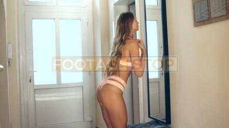 bikini-girl-blonde-lifestyle-stock-video-footage