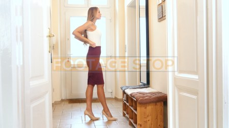 young-business-woman-dressing-stock-video-footage