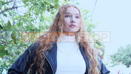 redhead-pantyhose-gen-z-girl-stock-video-8