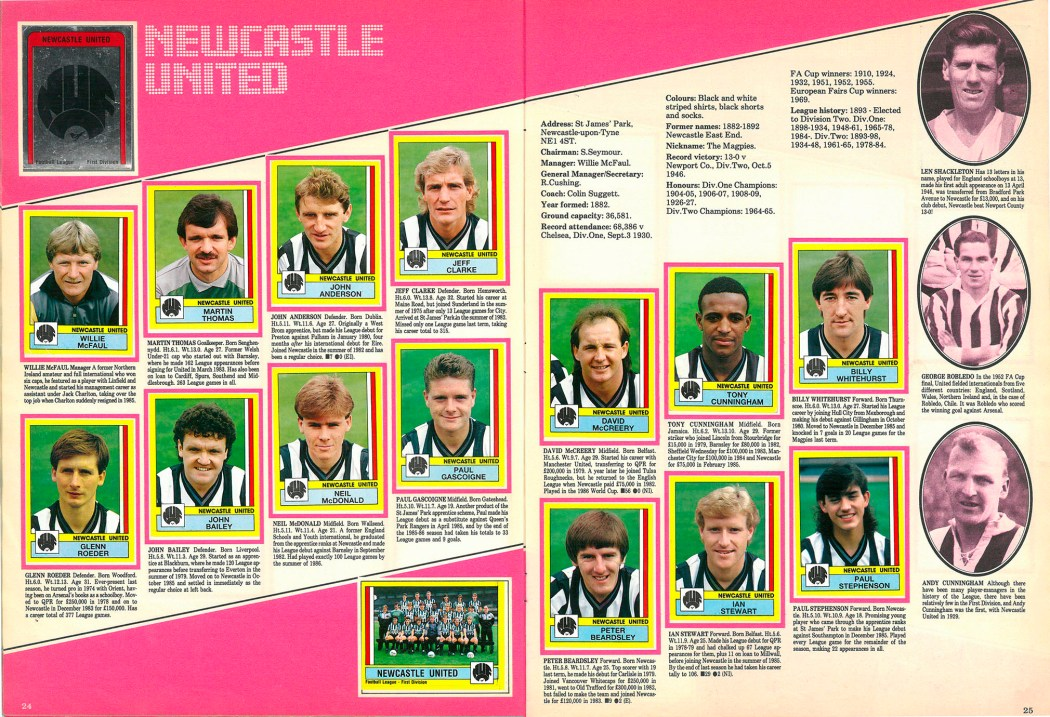 Newcastle United 1987
