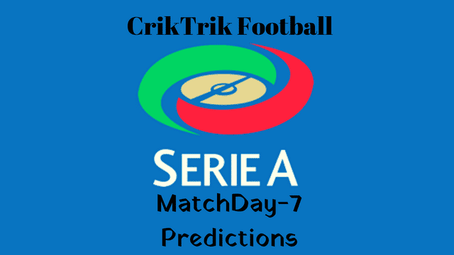 serie a matchday 7 predictions