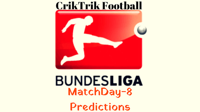 bundesliga day 8 match predictions