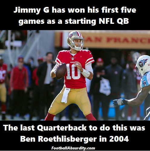 Garoppolo facts about the NFL week 15