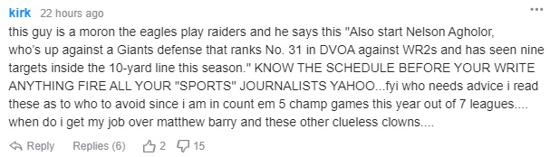 typo nfl hot takes