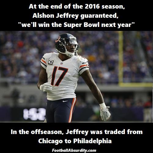 Jeffrey Super Bowl Trade