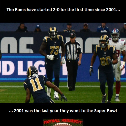 Fact about the Rams wins