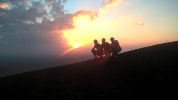 Sunset over Cerro Negro