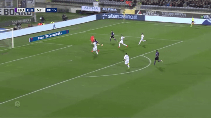 The emergence of the 1-0 for Fiorentina