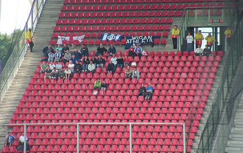 Wigan Athletic fans are notorious noise-makers.