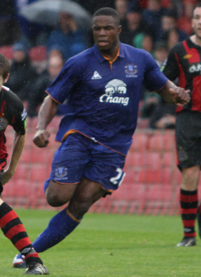 Everton forward Victor Anichebe scored the equaliser against Aston Villa