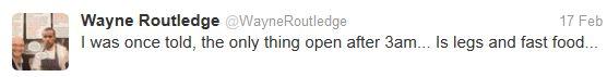 Swansea City winger Wayne Routledge