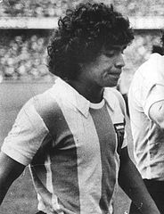 Diego Maradona making his debut for Argentina (vs Hungary) in 1977