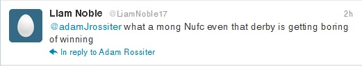 """Liam Noble's offending """"mong"""" tweet"""
