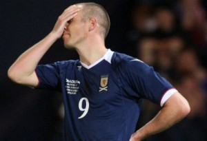 Scotland forward Kenny Miller can't take it any more