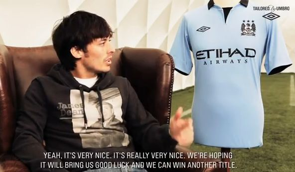 David Silva talks to Umbro about the new Manchester City home kit