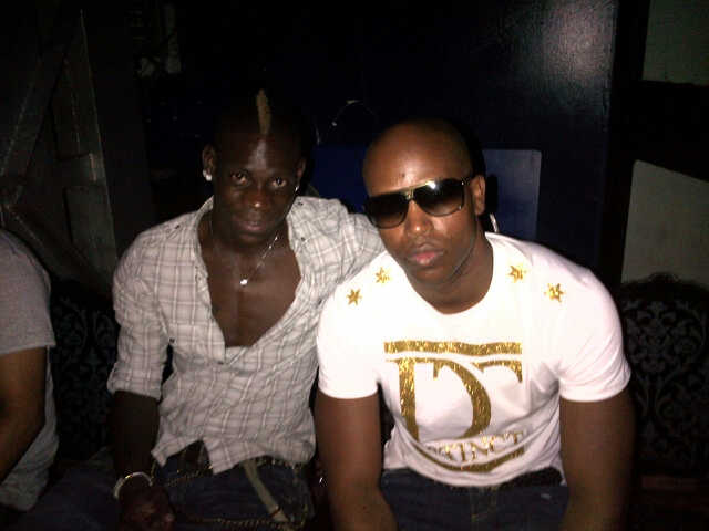 Mario Balotelli in Ibiza with French rapper, Rohff
