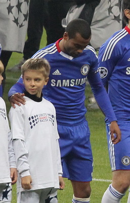 Ashley Cole, who gave his Community Shield runners-up medal to a young Manchester City fan