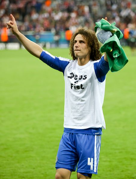 David Luiz, who nutmegged Eden Hazard during a training session on Chelsea's pre-season tour of the USA