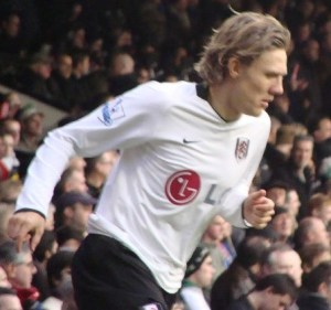 Jimmy Bullard playing for Fulham