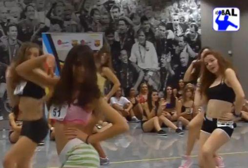 Barcelona cheerleaders audition