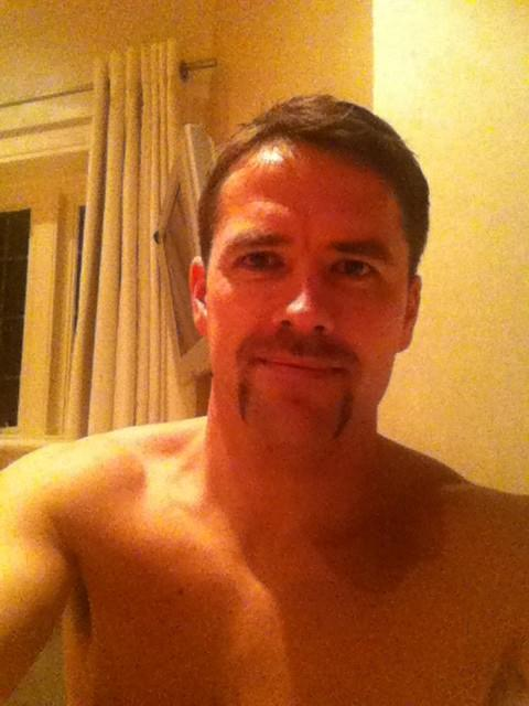Michael Owen and his Movember moustache