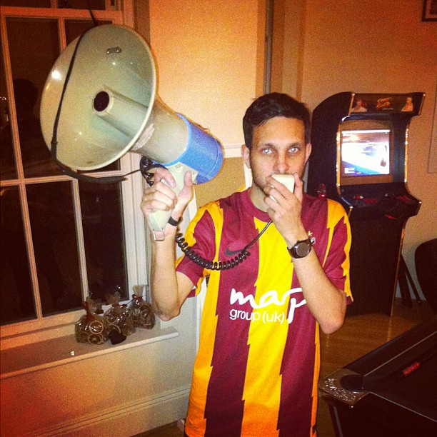 Bradford City fan Dynamo, star of the Dynamo Magic of Football series