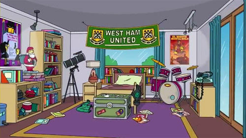 A West Ham banner on The Simpsons