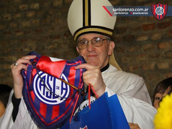 Pope Francis supports San Lorenzo