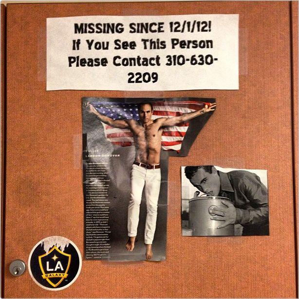 Landon Donovan missing poster by Omar Gonzalez