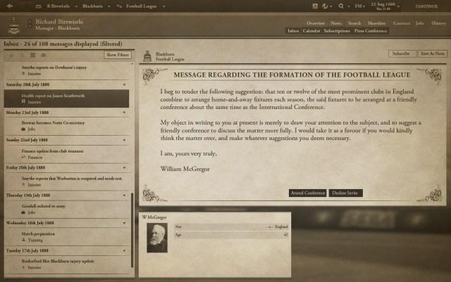 Football Manager 1888 screenshot 1, Football Manager April Fools' Day