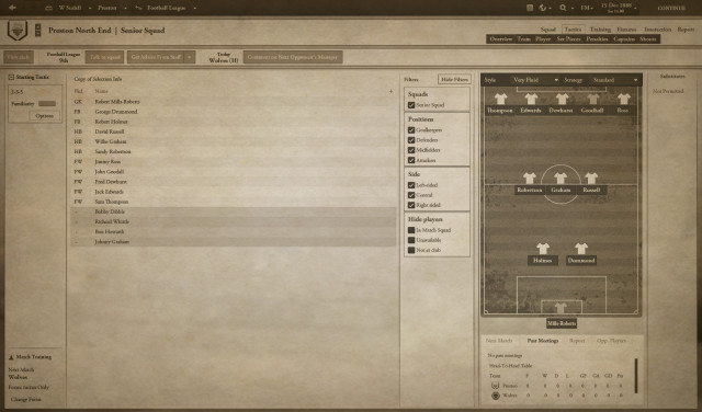 Football Manager 1888 screenshot 2, Football Manager April Fools' Day