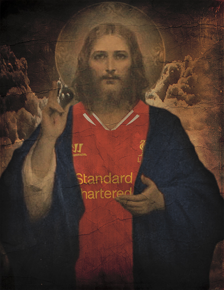 Part of the Soccer Jesus series by Paula Morales