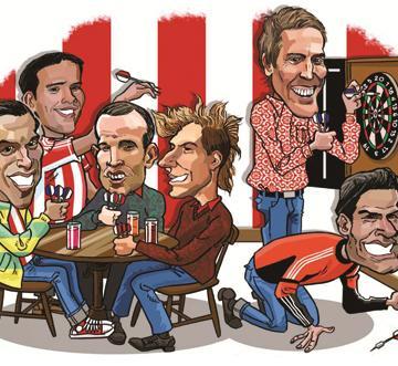 Stoke City Darts Caricature Mug