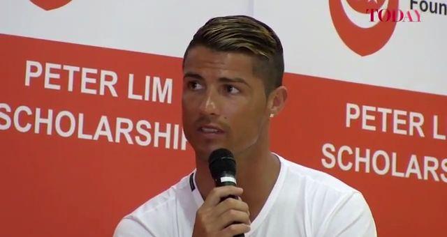 Cristiano Ronaldo Q&A with schoolchildren in Singapore